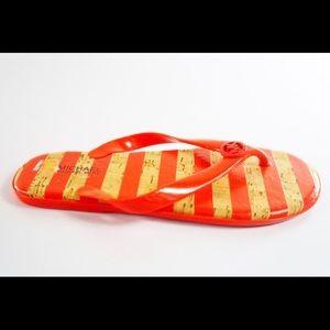 MICHAEL KORS Jet Set Jelly Red Crimson Flip Flop-6